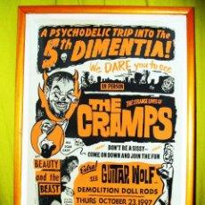 Carteles Espectáculos: CRATEL DE COLECCION DE -THE CRAMPS- EN PHYCHODELIC TRIP INTO THE 5º DIMENTIA 1997. Lote 47212512