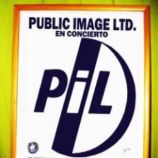 Affiches Spectacles: PIL- CARTEL CONCIERTO EN 1986 LA BANDA BRITÁNICA PUBLIC IMAGE LTD. EN PACHÁ VALENCIA AUDITORIUM. Lote 47393135