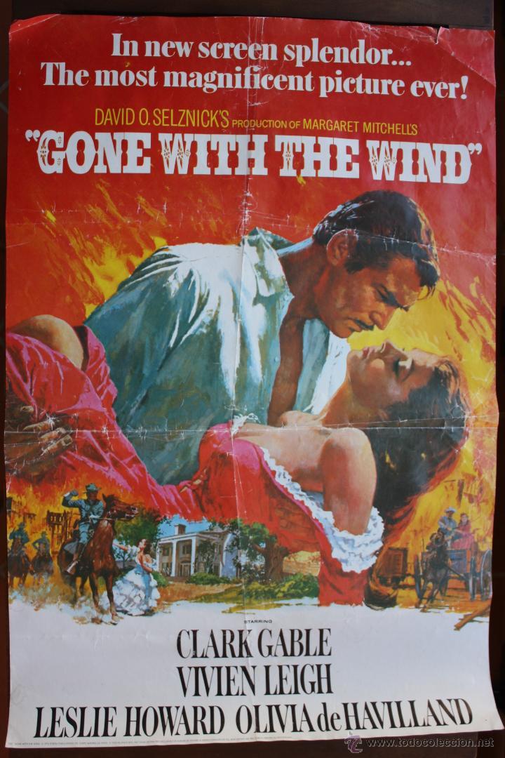 poster de pelicula lo que el viento se llevo