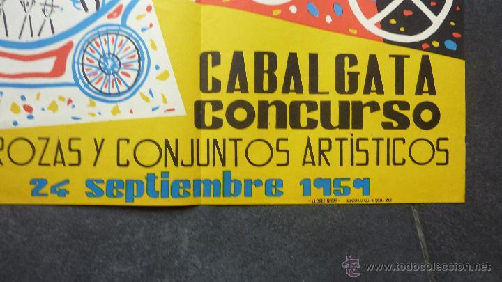 Carteles Espectáculos: gran cartel real circulo artistico fiestas de la merced 1959 . Barcelona festes Mercè 94/60 cm - Foto 3 - 48337495