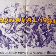 Carteles Espectáculos: CARTEL CARNAVAL 1981 BADALONA 62 /43 CM. Lote 48337530