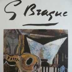 Carteles Espectáculos: CARTEL BRAQUE SALA GASPAR BARCELONA 1975. Lote 48656737