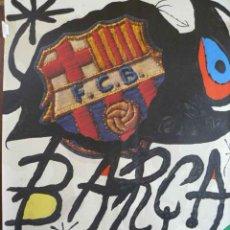 Carteles Espectáculos: CARTEL DE J. MIRO 75 ANIVERSARIO CLUB DE FUTBOL BARCELONA. Lote 48657743