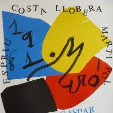 Carteles Espectáculos: CARTEL DE J. MIRO HOMENAJE A COSTA I LLOBERA. Lote 48669345