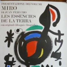 Carteles Espectáculos: CARTEL DE J. MIRO LES ESENCIES DE LA TERRA MAGGIO GIUGNO. Lote 48669441