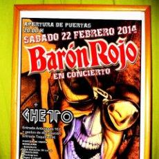 Carteles Espectáculos: CARTEL DE BARON ROJO + GHETO. SALA BOVEDA. BARCELONA. Lote 49037327