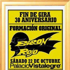 Affissi Spettacoli: CARTEL DE CONCIERTO DE - BARON ROJO - EN PALACIO DE VISTALEGRE. MADRID 2011. Lote 122830618