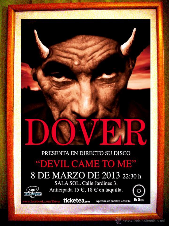 POSTER CONCIERTO DE - DOVER - SALA EL SOL, MADRID 2013 (Coleccionismo - Carteles Gran Formato - Carteles Circo, Magia y Espectáculos)