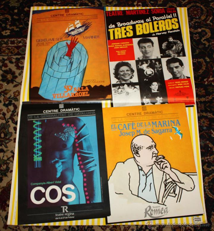 CARTEL DE 4 OBRAS DE TEATRO DEL AÑO 1983 (Coleccionismo - Carteles Gran Formato - Carteles Circo, Magia y Espectáculos)