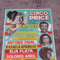Carteles Espectáculos: ANTIGUO CARTEL CIRCO PRICE 1969. Lote 49942647