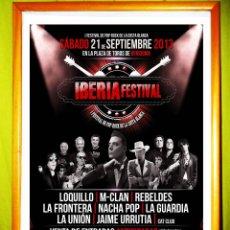 Carteles Espectáculos: POSTER DE - FESTIVAL IBERIA - 12 SEPTIEMBRE 2013, EN BENIDORM, ESPAÑA.. Lote 50224749