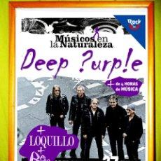 Affissi Spettacoli: POSTER , CARTEL CONCIERTO DE - DEEP PURPLE , LOQUILLO Y BEBE - EN HOYOS DE ESPINO AVILA 2012. Lote 54503004