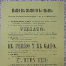 Carteles Espectáculos: CÁDIZ,CARTEL SIGLO XIX,ACONTECIMIENTO CULTURAL,MUY RARO,INENCONTRABLE,LEER DESCRIPCIÓN. Lote 50472922