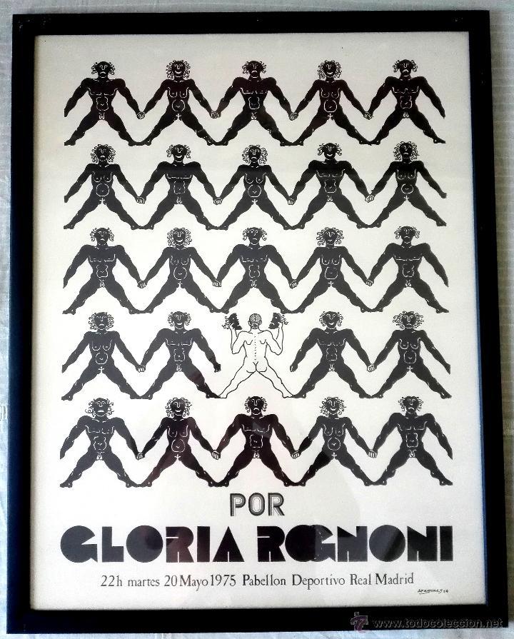 CARTEL TEATRAL GLORIA ROGNONI (1975) (Coleccionismo - Carteles Gran Formato - Carteles Circo, Magia y Espectáculos)