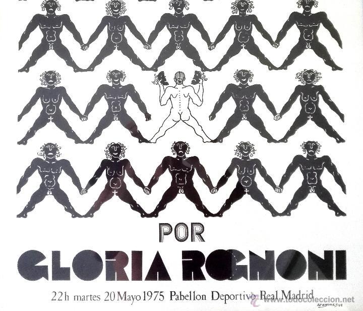 Carteles Espectáculos: CARTEL TEATRAL GLORIA ROGNONI (1975) - Foto 2 - 51527134