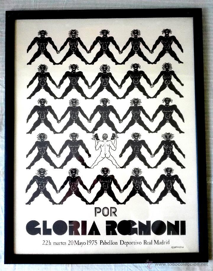 Carteles Espectáculos: CARTEL TEATRAL GLORIA ROGNONI (1975) - Foto 3 - 51527134