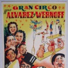 Carteles Espectáculos: CARTEL CIRCO - GRAN CIRCO HNOS ALVAREZ Y WERNOFF - CIRP21. Lote 51580650