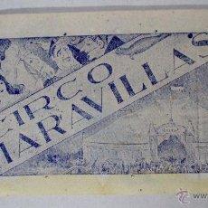 Carteles Espectáculos: CARTEL CIRCO - GRAN CIRCO MARAVILLAS - SAMA , AÑOS 20 - 30 - CIRP35. Lote 51581355