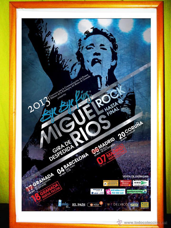 POSTER DE - MIGUEL RIOS - GIRA DE DESPEDIDA 2013. (Coleccionismo - Carteles Gran Formato - Carteles Circo, Magia y Espectáculos)