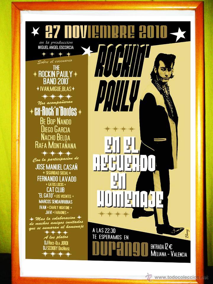 cartel poster , concierto homenaje a - rockn`pa - Comprar Carteles ...