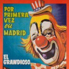 Carteles Espectáculos: CARTEL HOLIDAY CIRCUS Y SU GRAN PARQUE ZOOLOGICO. 1969. 58 X 34 CM. Lote 52130225