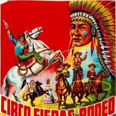 Carteles Espectáculos: CARTEL ZOO CIRCO. CIRCO, FIERAS Y RODEO. 1964. 65 X 33 CM. BARCELONA. Lote 52451456