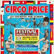 Carteles Espectáculos: CARTEL CIRCO PRICE. EN TOURNEE POR EUROPA. 1967. 40 X 71 CM. OVIEDO. Lote 52487638