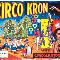 Carteles Espectáculos: CAREL CIRCO KRON. CIRCOLANDYA. Lote 52597892