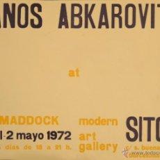 Carteles Espectáculos: CARTEL JANOS ABKAROVITS AT SITGES. 1972. 49 X 70 CM. Lote 52691228