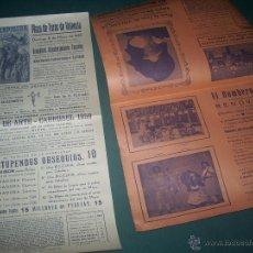 Carteles Espectáculos: LOTE CARTELES: LLAPISERA Y BOMBERO TORERO. . Lote 52747085