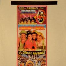 Carteles Espectáculos: CARTEL CIRC DE NADAL. MONANO Y SU BANDA. 1986. 58 X 25 CM. BARCELONA. Lote 52787303