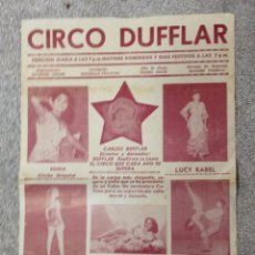 Carteles Espectáculos: CARTEL DE CIRCO DUFFLAR. AÑOS 50.. Lote 52979207