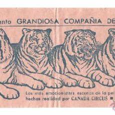Carteles Espectáculos: CANADA CIRCUS .- PROGRAMA DE MANO .- EMPRESA HNOS. AMOROS - SILVESTRINI .- AÑOS 50. Lote 53050525