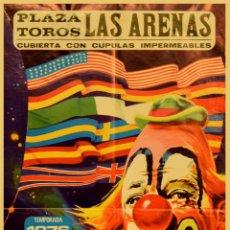 Carteles Espectáculos: CARTEL FESTIVAL MUNDIAL DEL CIRCO. TEMPORADA 1976. JANO. 63 X 35 CM. Lote 54145846