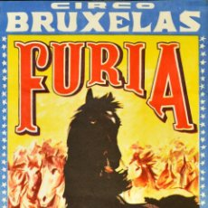 Carteles Espectáculos: CARTEL CIRCO BRUXELAS - FURIA. 73 X 35 CM. BARCELONA. Lote 53119877