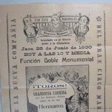 Carteles Espectáculos: CARTEL CIRCO , GRAN CIRCO MARAVILLAS , JACA , HUESCA , 1930 , CIRP117. Lote 53199077