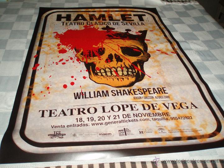 CARTEL TEATRO CLASICO DE SEVILLA HAMLET (Coleccionismo - Carteles Gran Formato - Carteles Circo, Magia y Espectáculos)