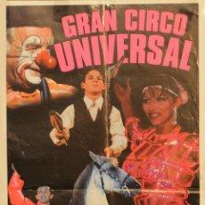 Carteles Espectáculos: CARTEL GRAN CIRCO UNIVERSAL. 50X27 CM. BARCELONA. Lote 53259183