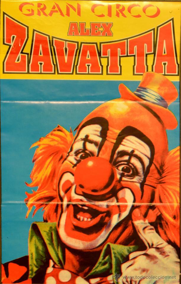 CARTEL GRAN CIRCO ALEX ZAVATTA. 34X21 CM. BARCELONA (Coleccionismo - Carteles Gran Formato - Carteles Circo, Magia y Espectáculos)