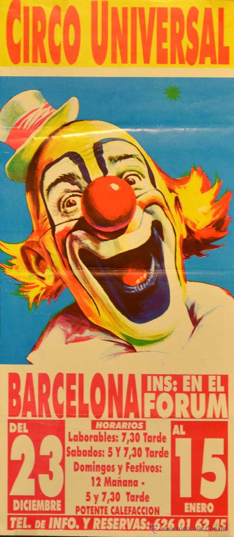 CARTEL CIRCO UNIVERSAL- 50X22 CM. 2005. BARCELONA (Coleccionismo - Carteles Gran Formato - Carteles Circo, Magia y Espectáculos)