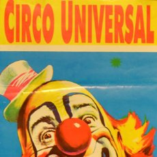 Carteles Espectáculos: CARTEL CIRCO UNIVERSAL- 50X22 CM. 2005. BARCELONA. Lote 75736026