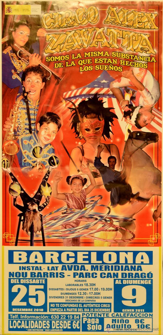 CARTEL CIRCO ALEX ZAVATTA. 46X22 CM. 2010. BARCELONA (Coleccionismo - Carteles Gran Formato - Carteles Circo, Magia y Espectáculos)