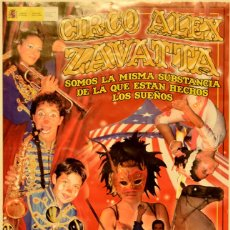 Carteles Espectáculos: CARTEL CIRCO ALEX ZAVATTA. 46X22 CM. 2010. BARCELONA. Lote 53318814