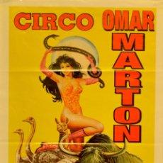 Carteles Espectáculos: CARTEL CIRCO OMAR MARTON. 2005. 48X28 CM. BARCELONA. Lote 53318857