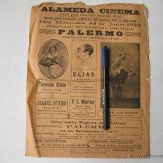 Carteles Espectáculos: CARTEL DE LA ALAMEDA CINEMA DE 1932. ESPECTACULO PALERMO. GIBRALTAR. Lote 53882686