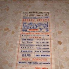 Carteles Espectáculos: CARTEL CIRCO BERLIN ZIRCUS EN BADAJOZ, AÑOS 70. Lote 53982351
