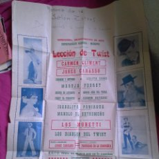 Carteles Espectáculos: ZARAGOZA. CARTEL DE ESPECTÁCULO CÓMICO MUSICAL TWIST. CARMEN CLIMENT. Lote 53989032