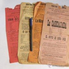 Carteles Espectáculos: CUATRO CARTELES DEL TEATRO PRINCIPAL. PALMA DE MALLORCA. 1905 Y 1906.. Lote 54005441