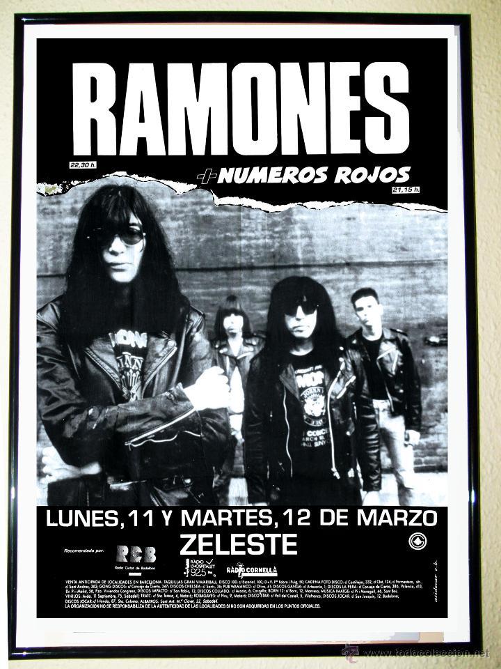 cartel de concierto de ramones a o 1991 en comprar