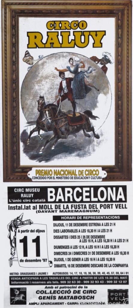 CICO RALUY. PREMIO NACIONAL DE CIRCO (Coleccionismo - Carteles Gran Formato - Carteles Circo, Magia y Espectáculos)